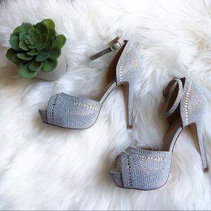 Lauren Lorraine rhinestone embellished heels